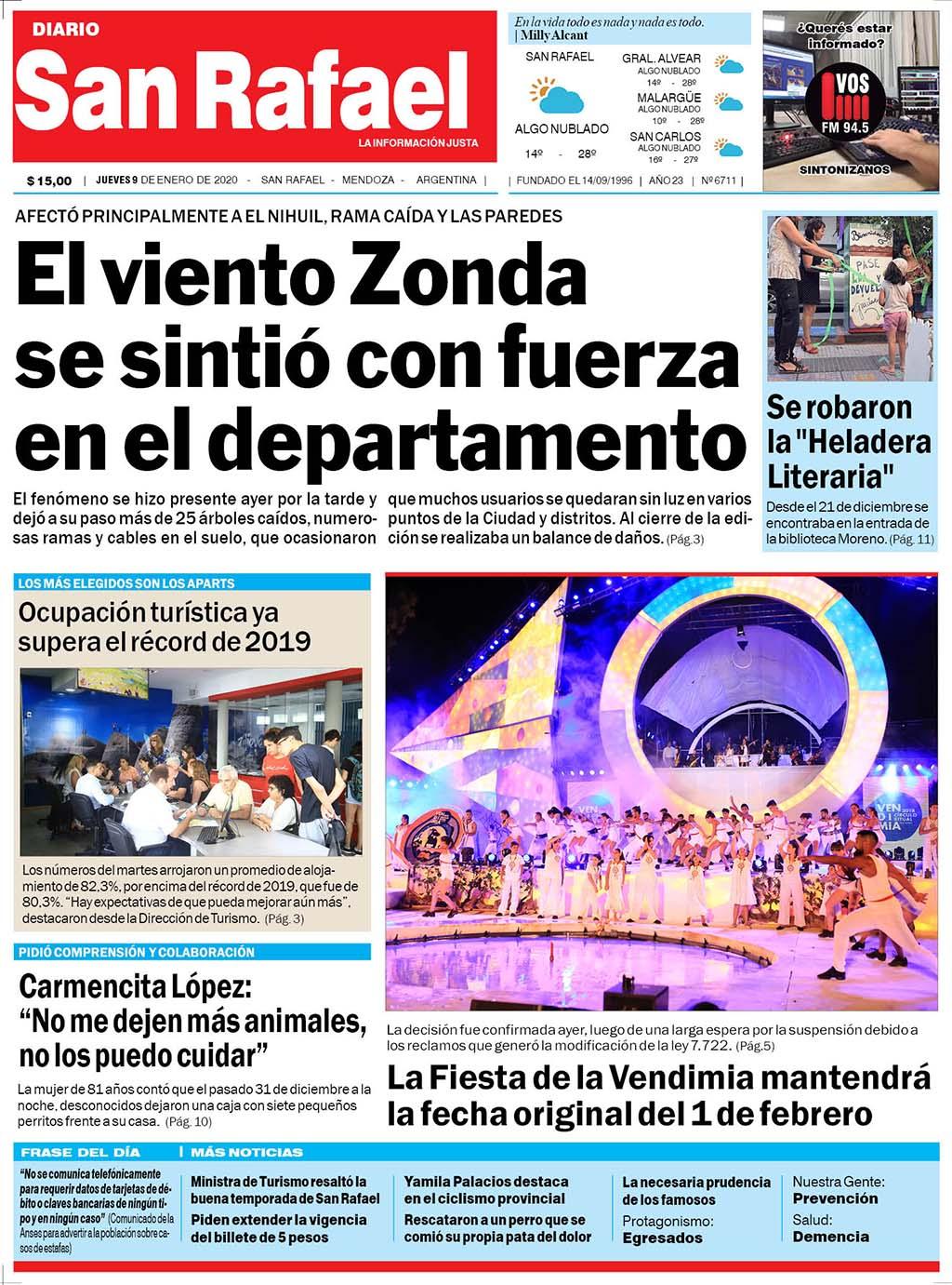 Tapa 090120 Diario San Rafael