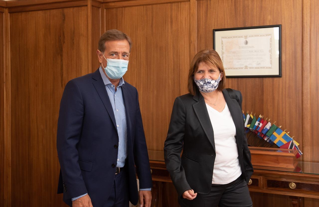 Rodolfo Suarez se reunió con la presidenta del PRO, Patricia Bullrich